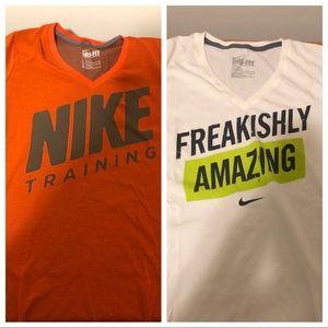 Nike DRI FIT 2 T-Shirt Bundle, Size Large